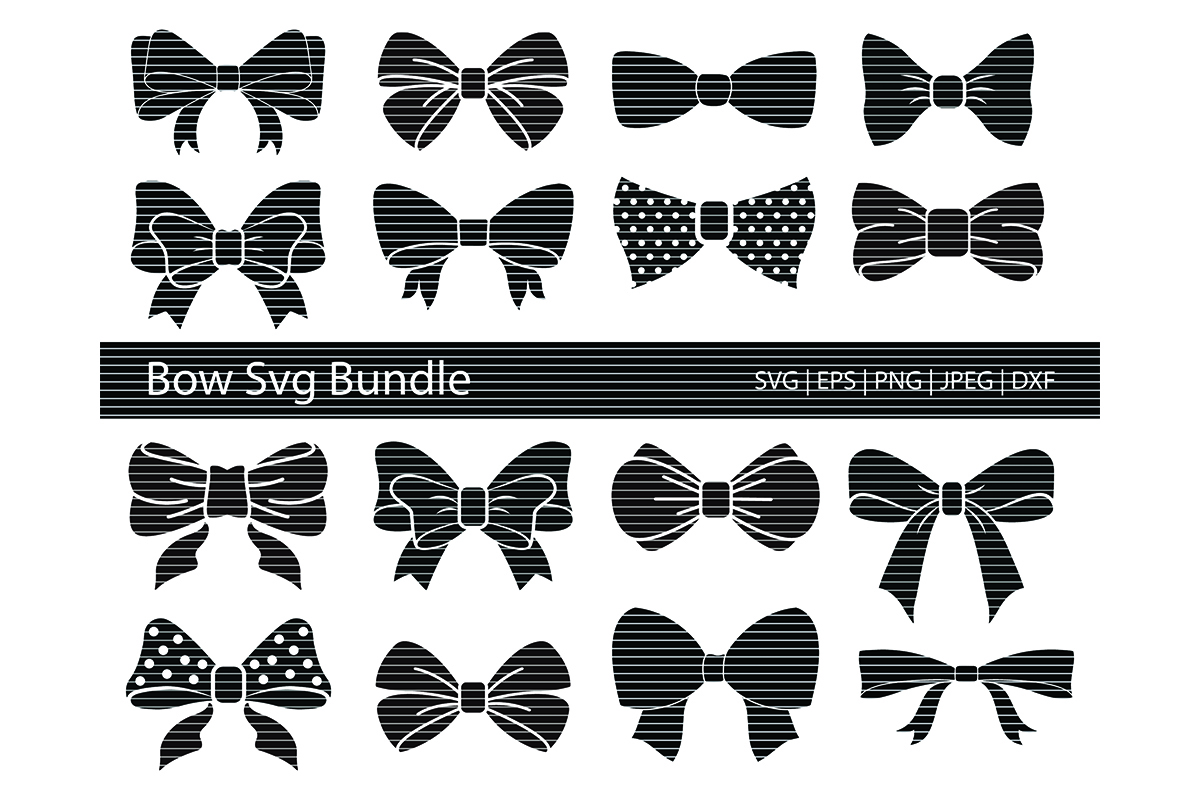 Download Free Bow Silhouette Clip Art Bundle Graphic By Meshaarts Creative for Cricut Explore, Silhouette and other cutting machines.
