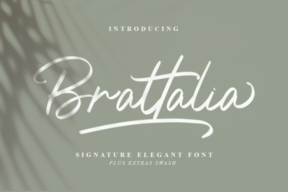 Print on Demand: Brattalia Script & Handwritten Font By Typefar