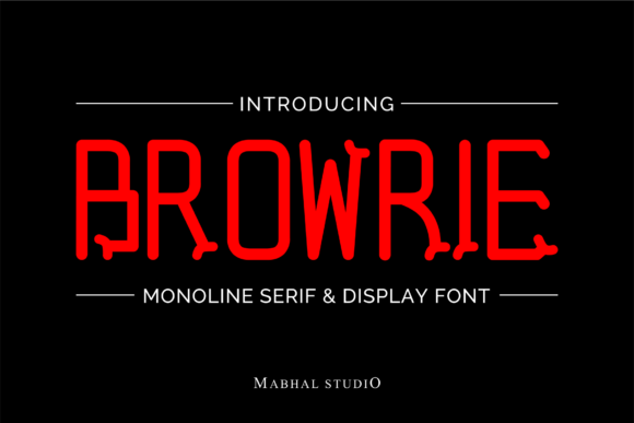 Print on Demand: Browrie Sans Serif Font By Mabhal Studio