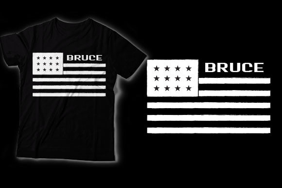 Bruce American Flag Graphic Crafts By HASSHOO