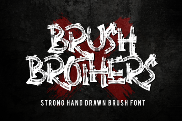 Print on Demand: Brush Brothers Display Font By figuree studio