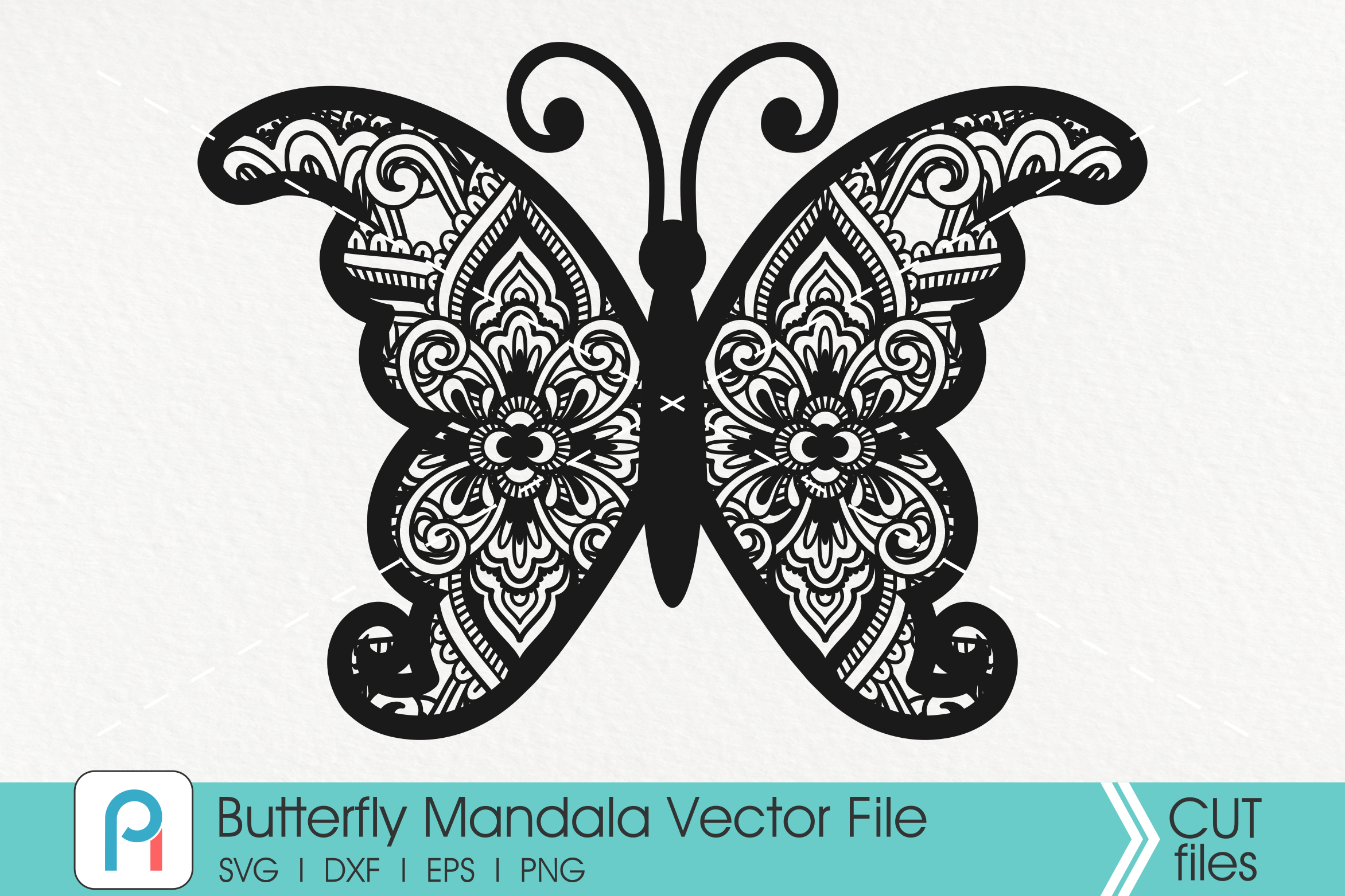 Download Free Mandala Butterfly Graphic By Pinoyartkreatib Creative Fabrica for Cricut Explore, Silhouette and other cutting machines.