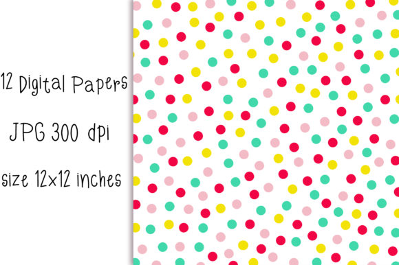 Candy Polka Dot Background Graphic Backgrounds By PinkPearly - Image 2