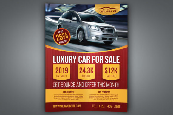 Download Free Car For Sale Flyer Graphic By Owpictures Creative Fabrica for Cricut Explore, Silhouette and other cutting machines.