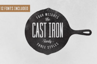 Print on Demand: Cast Iron Serif Font By Hustle Supply Co.