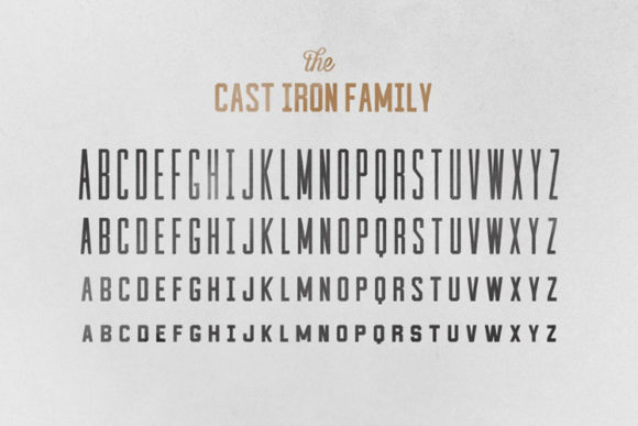 Print on Demand: Cast Iron Serif Font By Hustle Supply Co. - Image 3