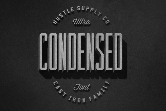 Print on Demand: Cast Iron Serif Font By Hustle Supply Co. - Image 7