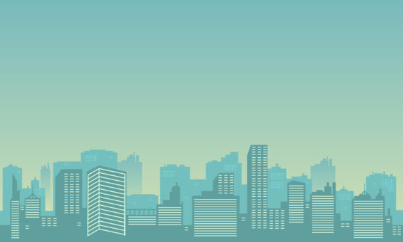 Download Free City Silhouette Background With Building Graphic By Cityvector91 for Cricut Explore, Silhouette and other cutting machines.
