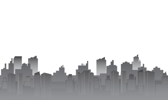 Download Free City Silhouette With Gray Color Gradient Graphic By Cityvector91 for Cricut Explore, Silhouette and other cutting machines.