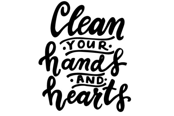 Clean Your Hands And Hearts Philosophic Graphic By