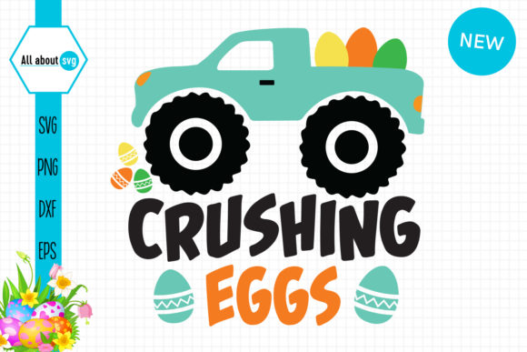 Download Free Crushing Eggs Easter Truck Graphic By All About Svg Creative for Cricut Explore, Silhouette and other cutting machines.