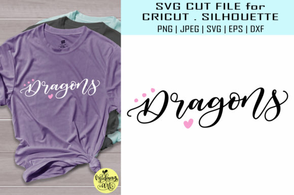 Download Free Dragons Sports Team Graphic By Midmagart Creative Fabrica for Cricut Explore, Silhouette and other cutting machines.