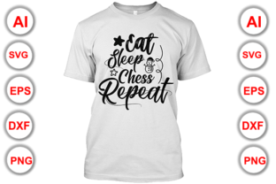 Download Free Eat Sleep Chess Repeat Graphic By Graphics Cafe Creative Fabrica for Cricut Explore, Silhouette and other cutting machines.