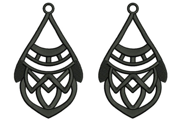 Earrings Jewelry Fashion & Beauty Embroidery Design By DigitEMB