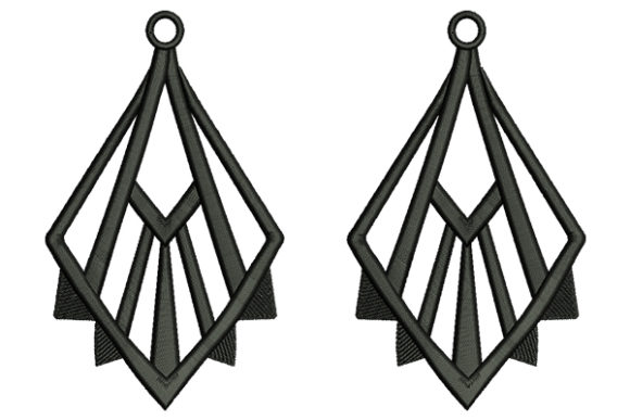 Earrings Jewelry Fashion & Beauty Embroidery Design By DigitEMB - Image 1