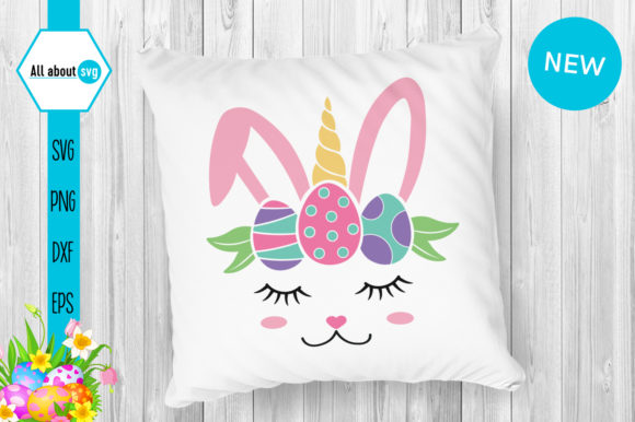 Download Free Easter Bunny Unicorn Graphic By All About Svg Creative Fabrica for Cricut Explore, Silhouette and other cutting machines.