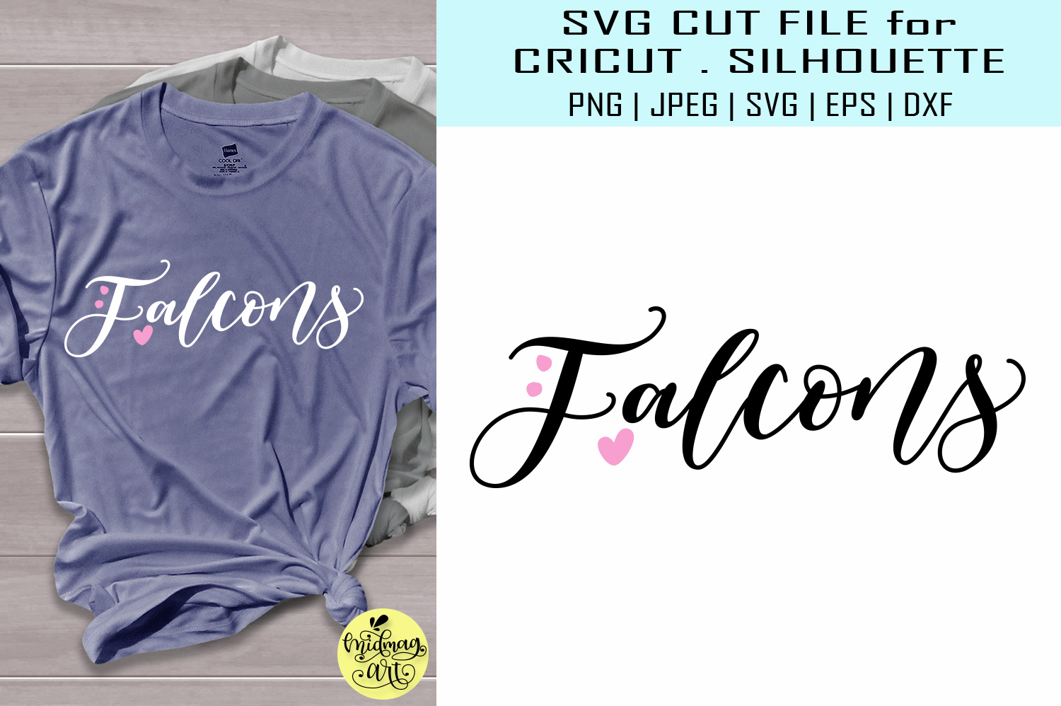Download Free Falcons Sports Team Graphic By Midmagart Creative Fabrica for Cricut Explore, Silhouette and other cutting machines.