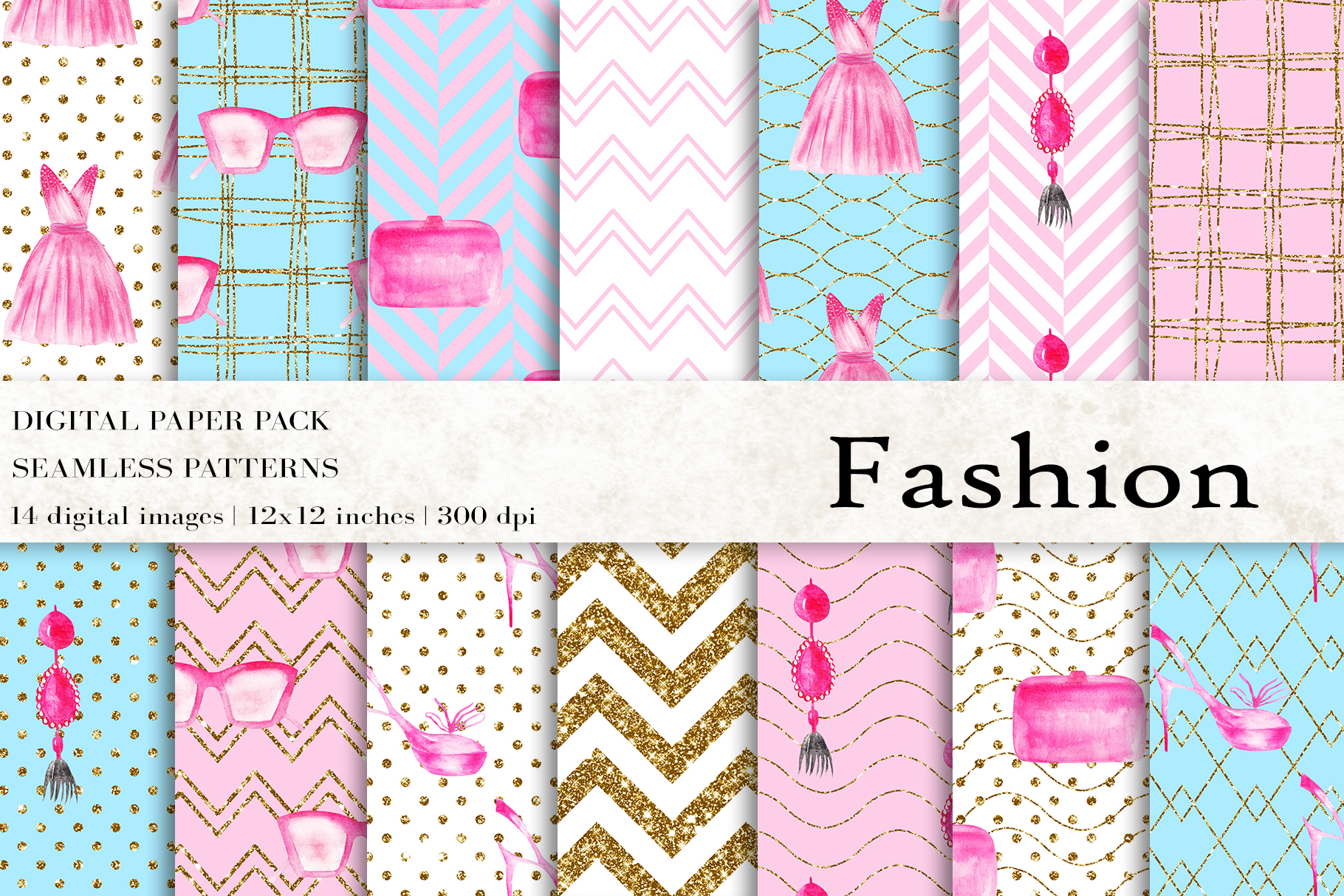 Download Free Fashion Digital Papers Graphic By Bonadesigns Creative Fabrica for Cricut Explore, Silhouette and other cutting machines.