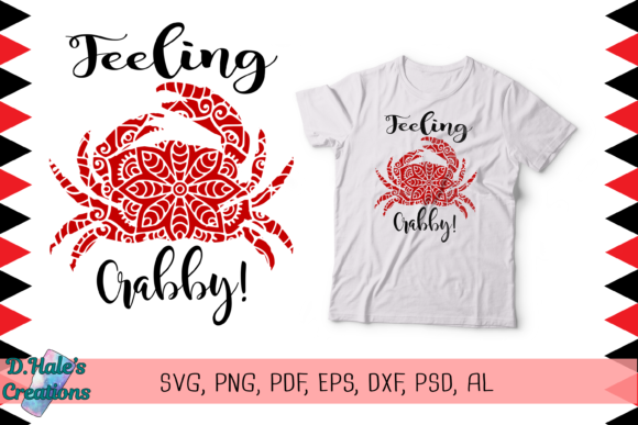 Feeling Crabby Graphic Illustrations By D. Hale's Creations