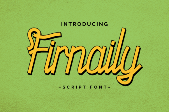 Print on Demand: Firnaily Display Font By Mabhal Studio