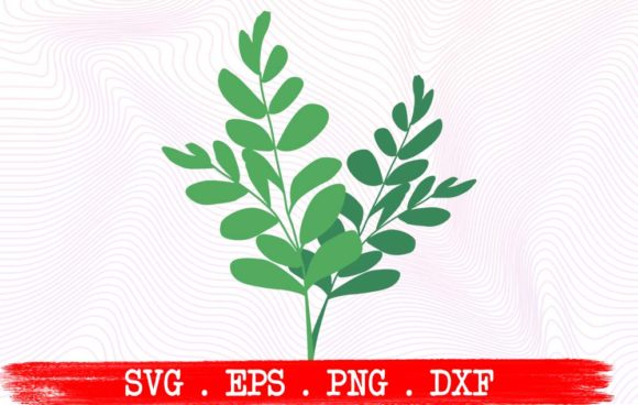 Download Free Floral Leaves Graphic By Vikshangat Creative Fabrica for Cricut Explore, Silhouette and other cutting machines.