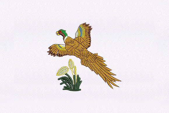 Flying Macaw Parrot Birds Embroidery Design By DigitEMB