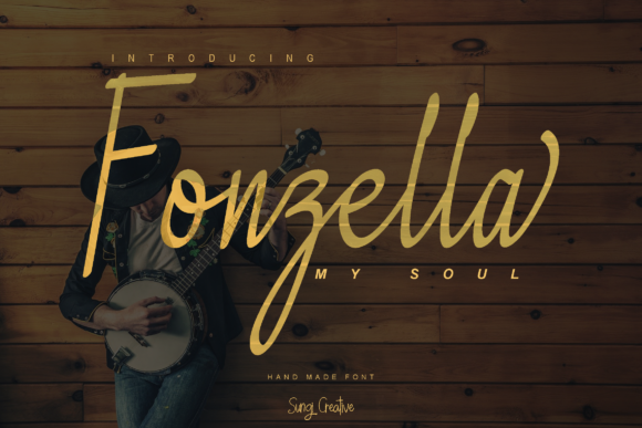 Print on Demand: Fonzella Script & Handwritten Font By SungiCreative