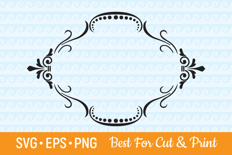 Download Free Frame Border Decorative Grafico Por Olimpdesign Creative Fabrica for Cricut Explore, Silhouette and other cutting machines.