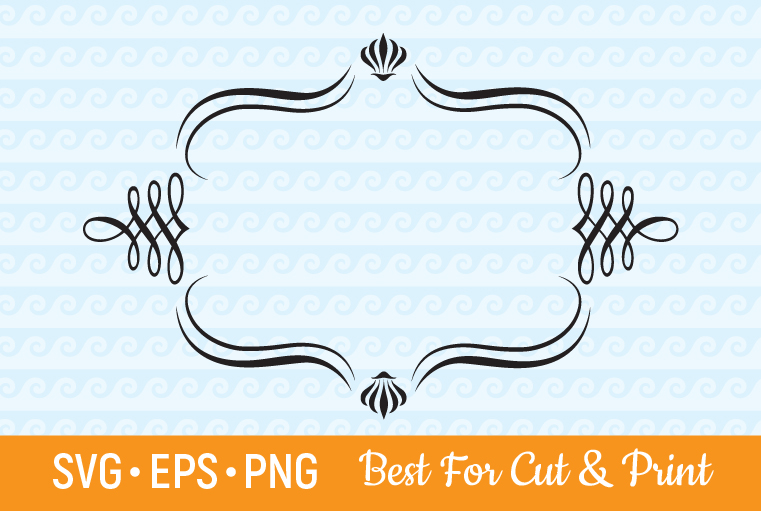 Download Free Frame Border Decorative Graphic By Olimpdesign Creative Fabrica for Cricut Explore, Silhouette and other cutting machines.
