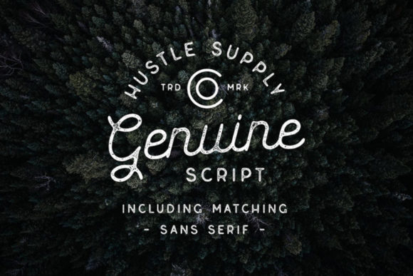 Print on Demand: Genuine Display Font By Hustle Supply Co.