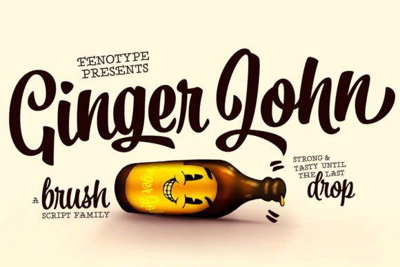Print on Demand: Ginger John Script & Handwritten Font By fenotypefonts