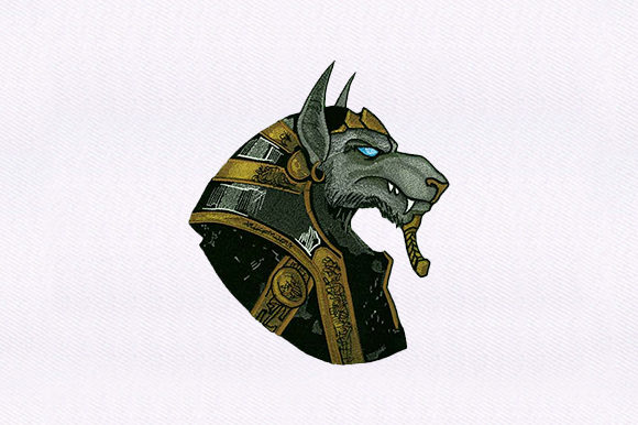 God  Anubis Dog Dogs Embroidery Design By DigitEMB