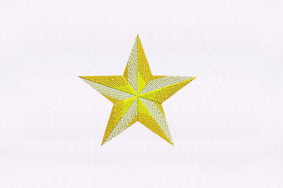 Golden Star School & Education Embroidery Design By DigitEMB