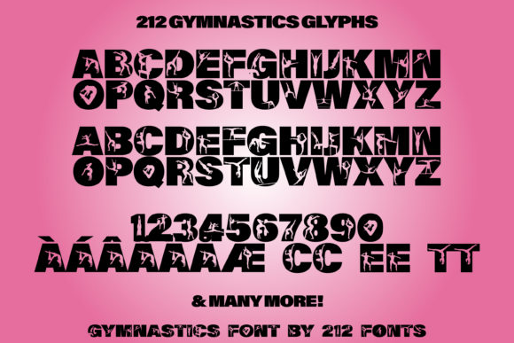 Print on Demand: Gymnastics Display Font By 212 Fonts - Image 5
