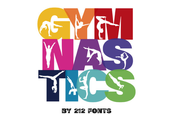 Print on Demand: Gymnastics Display Font By 212 Fonts - Image 9