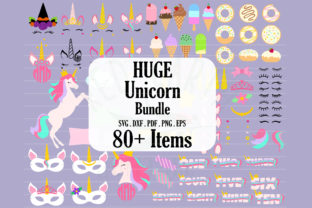 Huge Unicorn Theme Bundle  Graphic Crafts By redearth and gumtrees