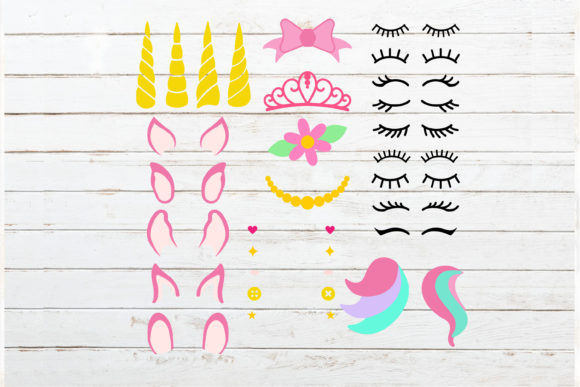 Download Free Huge Unicorn Theme Bundle Graphic By Redearth And Gumtrees for Cricut Explore, Silhouette and other cutting machines.