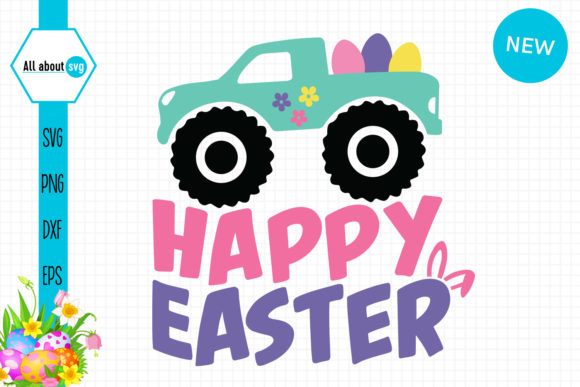 Download Free Happy Easter Truck Graphic By All About Svg Creative Fabrica for Cricut Explore, Silhouette and other cutting machines.