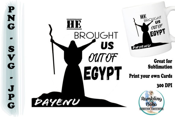He Brought Us out of Egypt Graphic Illustrations By RamblingBoho