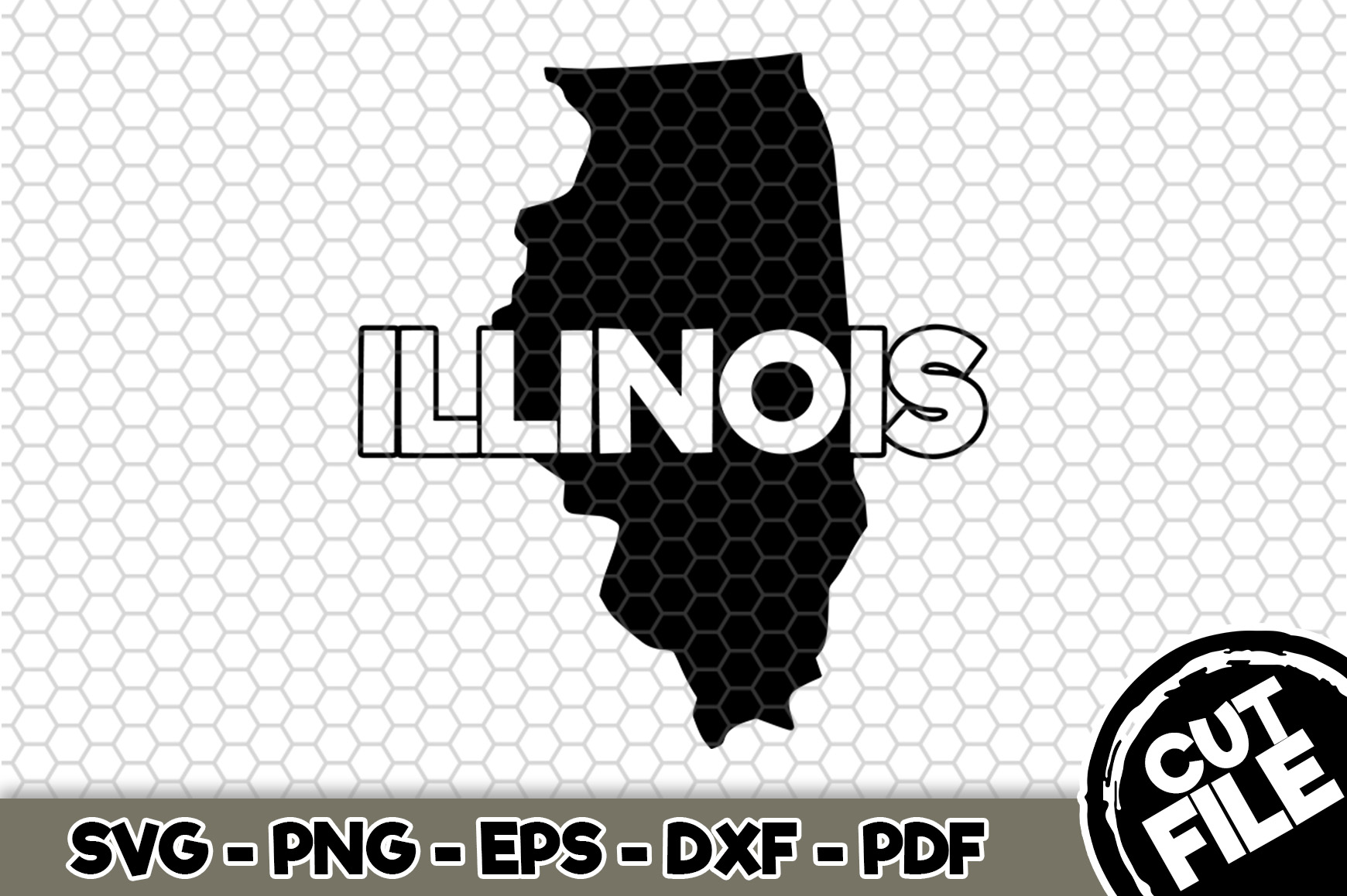 Download Free Illinois State Name Graphic By Svgexpress Creative Fabrica for Cricut Explore, Silhouette and other cutting machines.