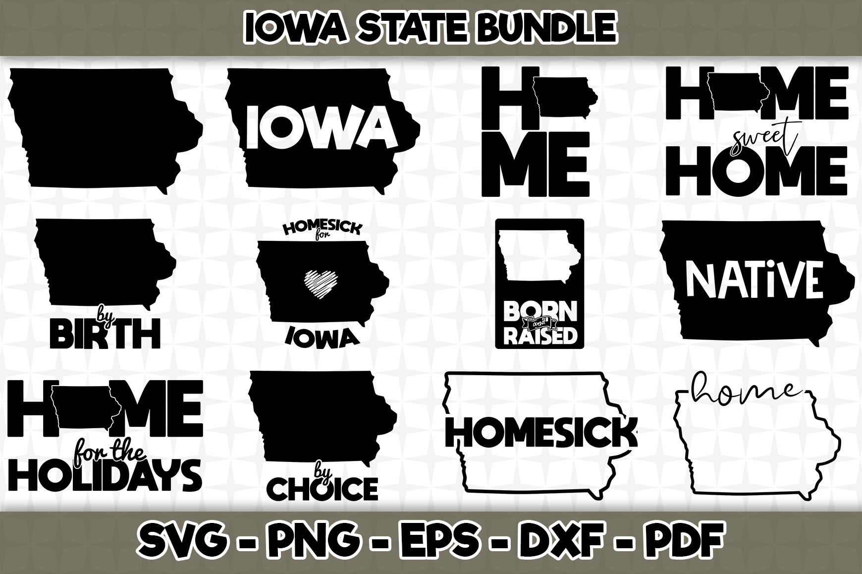 Iowa State Bundle 12 Designs Graphic By Svgexpress Creative