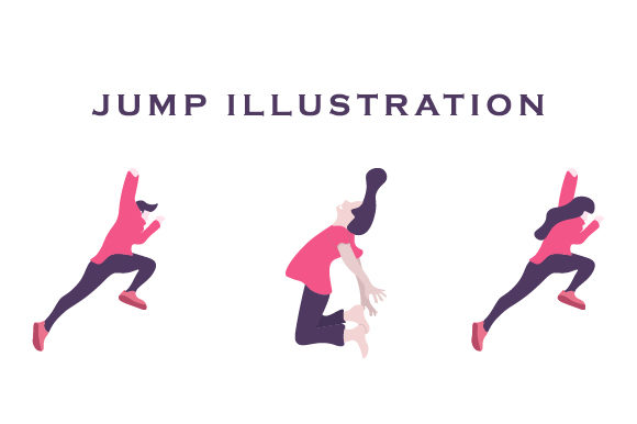 Print on Demand: Jumping People Illustration Graphic Illustrations By Justlett