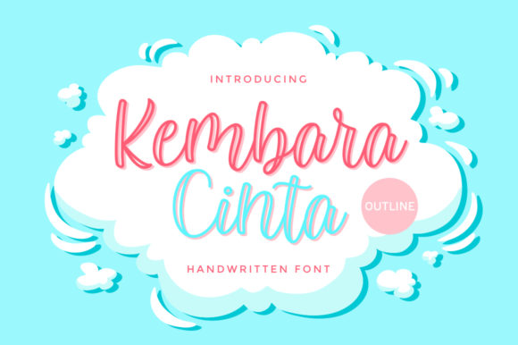 Print on Demand: Kembara Cinta Outline Script & Handwritten Font By fargunstudio - Image 1
