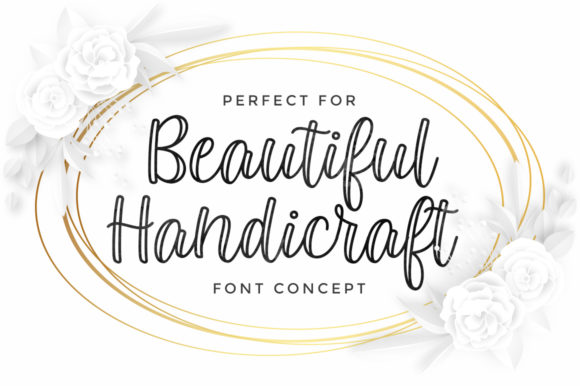 Print on Demand: Kembara Cinta Outline Script & Handwritten Font By fargunstudio - Image 3