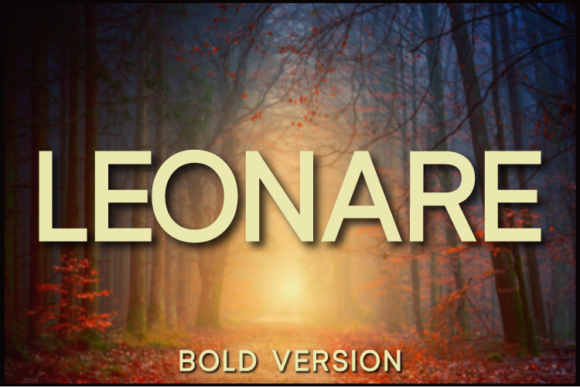 Print on Demand: Leonare Bold Sans Serif Font By Huntype