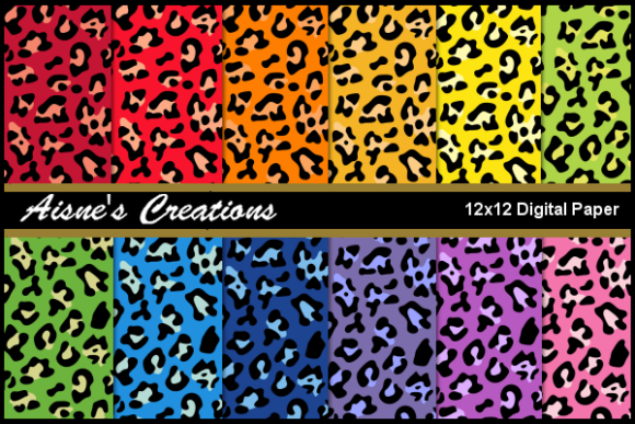 Download Free Leopard Print Coloured Paper Pack Graphic By Aisne Creative for Cricut Explore, Silhouette and other cutting machines.
