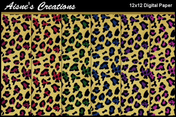 Print on Demand: Leopard Print Jewel Tones 2 Paper Pack Graphic Backgrounds By Aisne