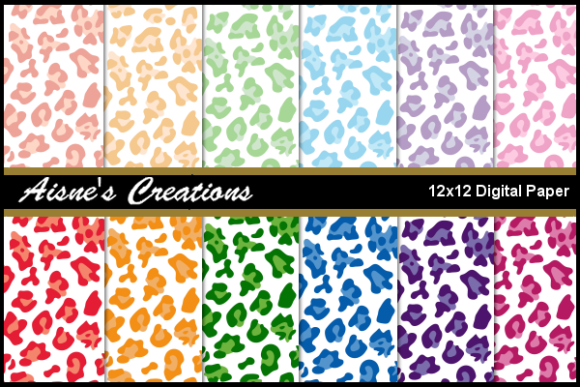 Print on Demand: Leopard Print on White Paper Pack Graphic Backgrounds By Aisne