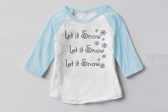 Let It Snow Christmas Snowflake Graphic Crafts By DesignedByGeeks