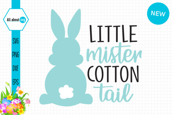 Little Mister Cotton Tail Bunny Graphic Crafts By All About Svg